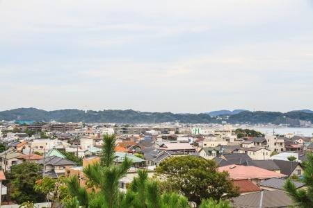 町鎌倉の海の景色